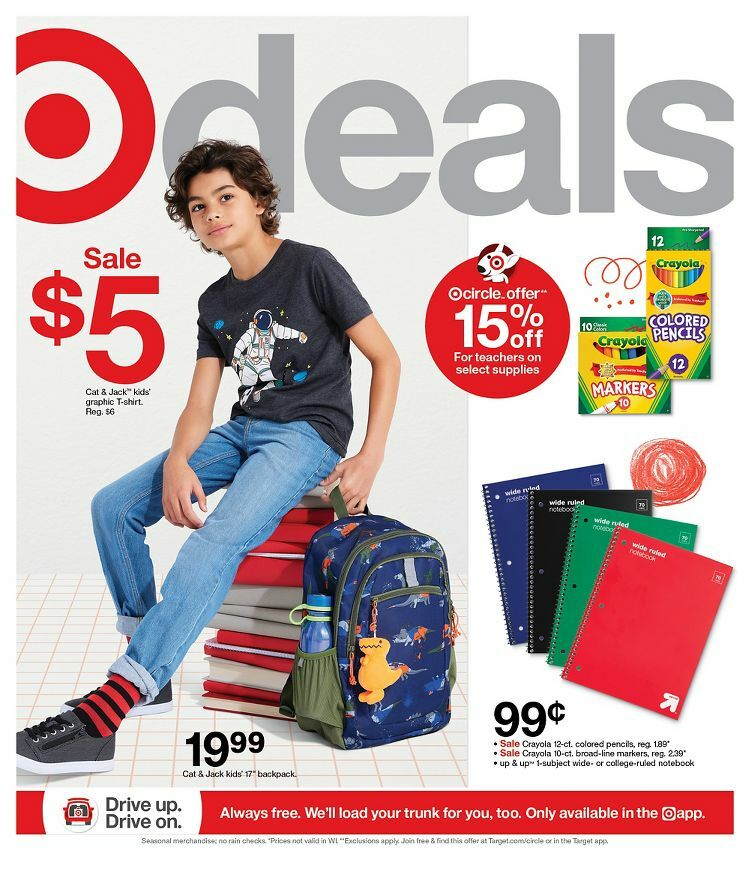 Target Weekly Ad from July 18