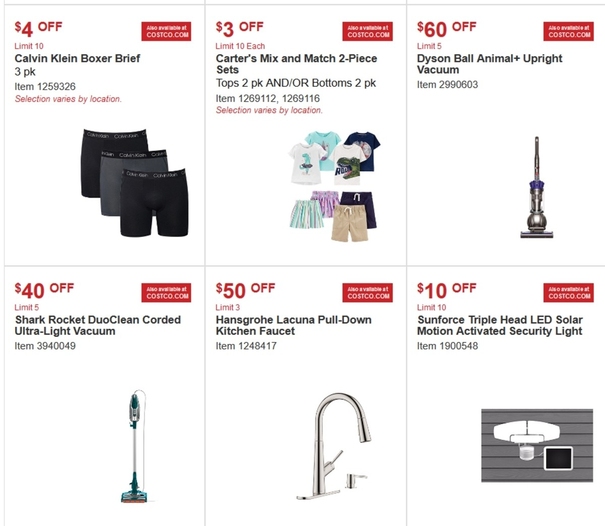 Costco Special Buys And Warehouse Savings For March 13