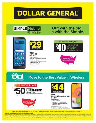 Dollar General Weekly Wireless Specials