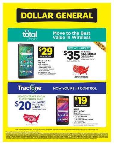 Dollar General Weekly Wireless Specials
