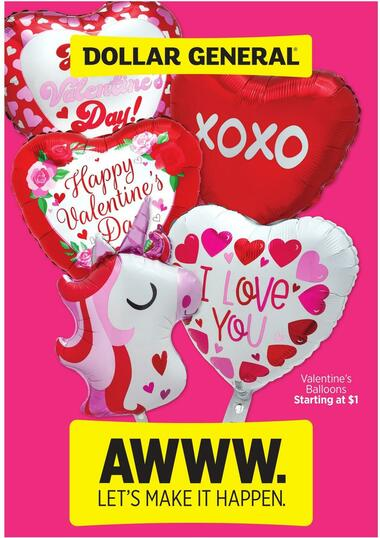 Dollar General Valentine's Day Book