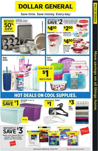 Dollar General More savings on all things home