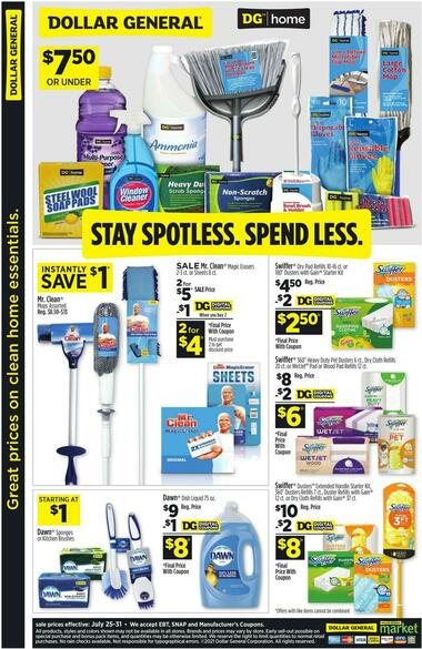 Dollar General Great prices on clean home essentials