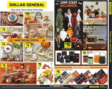 Dollar General Shop Scary Good Fall Savings.