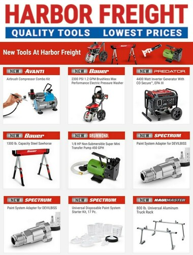 Harbor Freight Tools New Tools