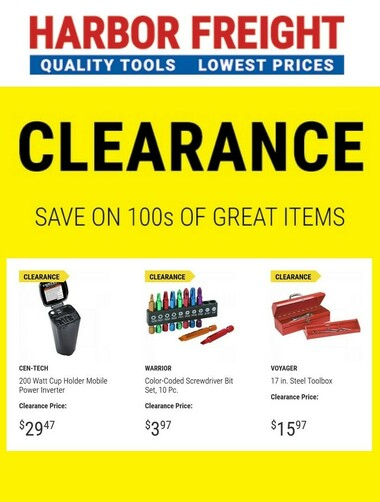 Harbor Freight Tools Clearance