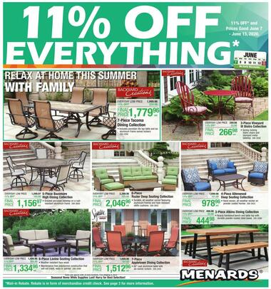 menards hours and locations michigan